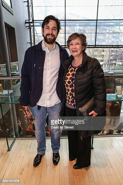 Adam Garcia and Jean Dunn attend the Gala performance of Matthew Bourne's Sleeping Beauty at Sadler's Wells theatre December 2015 in London England
