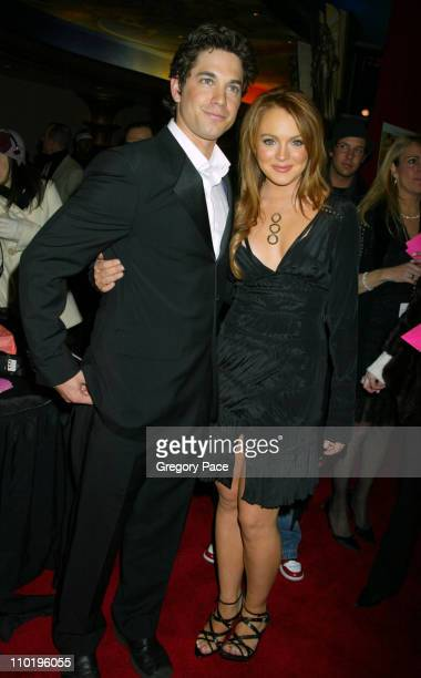 Adam Garcia and Lindsay Lohan during 'Confessions of a Teenage Drama Queen' New York Premiere at Loews EWalk Theatre in New York City New York United...