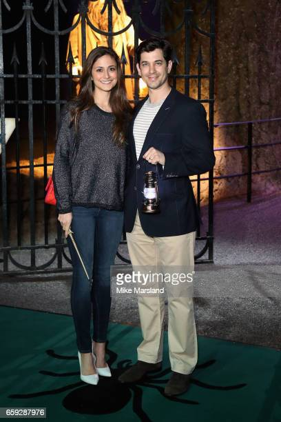 Adam Garcia and Nathalia Chubin attend the exclusive launch event for the Forbidden Forest a new expansion at Warner Bros Studio Tour London The...