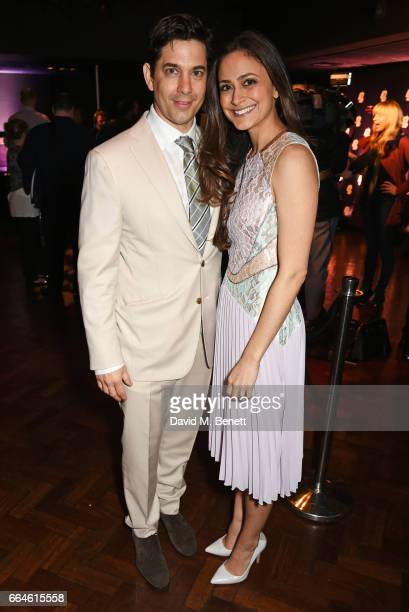 """Adam Garcia and Nathalia Chubin attend the opening night after party for """"42nd Street"""" in aid of the East Anglia Children's Hospice at One Embankment..."""