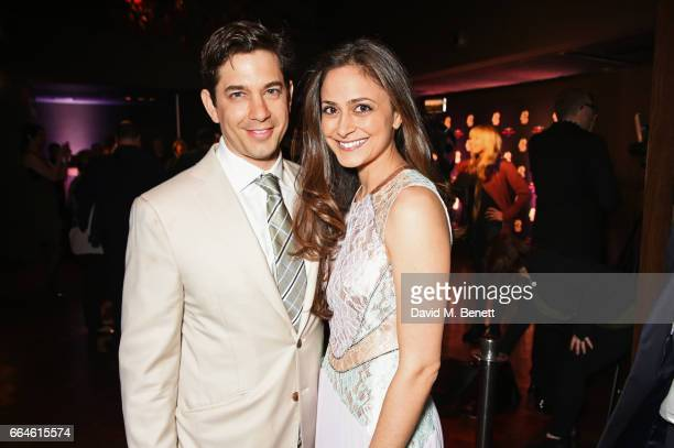 Adam Garcia and Nathalia Chubin attend the opening night after party for '42nd Street' in aid of the East Anglia Children's Hospice at One Embankment...