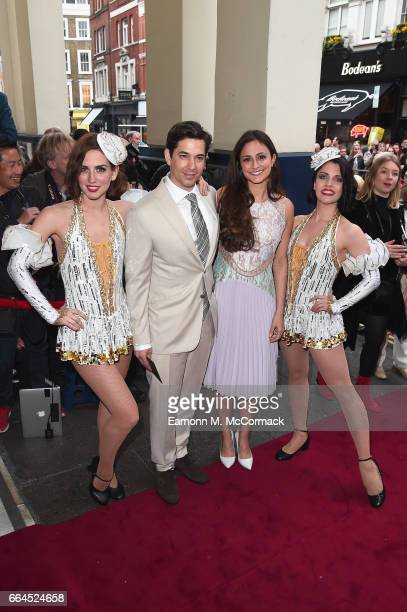 """Adam Garcia and Nathalia Chubin attend the opening night of """"42nd Street"""" at Theatre Royal on April 4, 2017 in London, England. The opening night is..."""