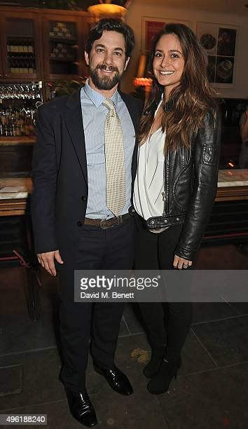Adam Garcia and Nathalia Chubin attend the press night after party for The Winter's Tale by the Kenneth Branagh Theatre Company at The National Cafe...