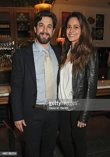 Adam Garcia and Nathalia Chubin attend the press night after party for 'The Winter's Tale' by the Kenneth Branagh Theatre Company at The National...