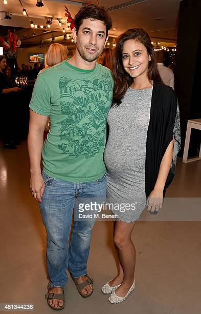 Adam Garcia and Nathalia Chubin attend the press night performance of 'The Car Man' at Sadler's Wells Theatre on July 19 2015 in London England