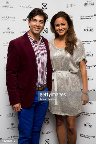 Adam Garcia and Nathalia Chubin Norman arrive at the Baltic Bar and Restaurant ahead of The Old Vic's Clarence Darrow Final Night Gala on June 15...