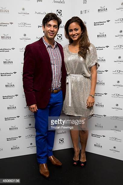 Adam Garcia and Nathalia Chubin Norman arrive at the Baltic Bar and Restaurant ahead of The Old Vic's Clarence Darrow Final Night Gala on June 15,...