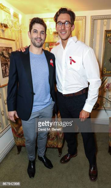 Adam Garcia and Oliver Saville attend 'West End Bares 2017 Ruby Strippers' in support of the Make A Difference Trust at The Novello Theatre on...