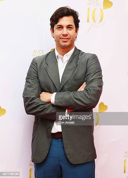 Adam Garcia arrives at Alice McCall's 10th anniversary party on October 23 2014 in Sydney Australia