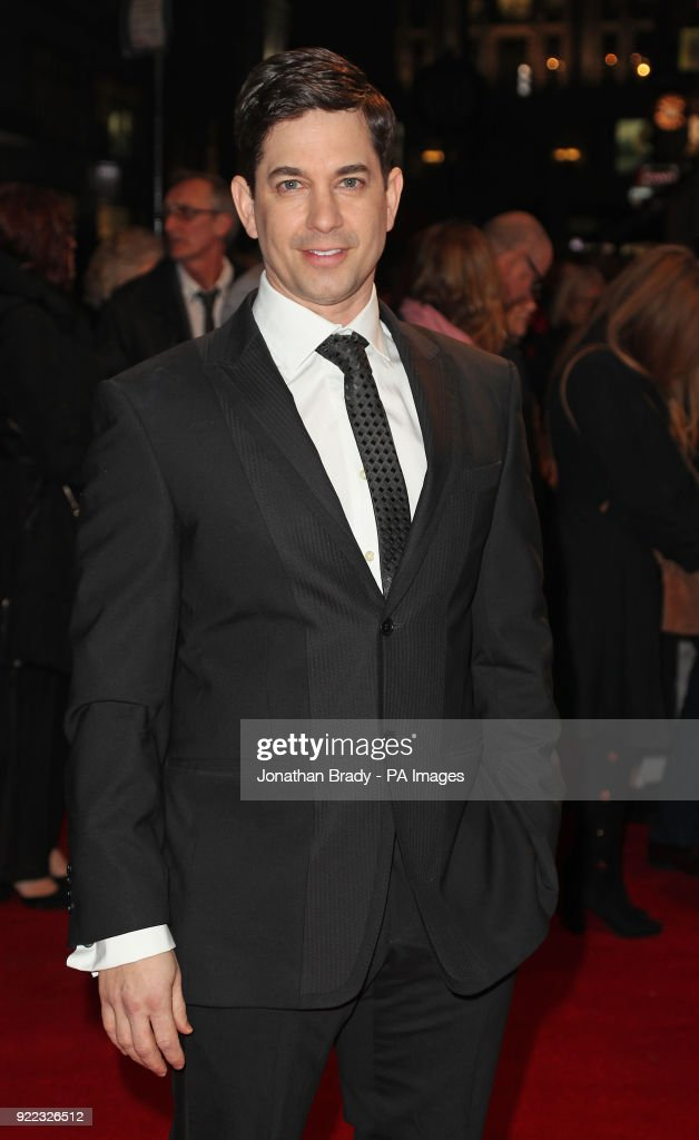 Adam Garcia arrives at the BBC event Bruce: A Celebration at the London Palladium, which will honour the life of the late entertainer Sir Bruce Forsyth.