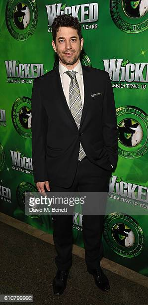 Adam Garcia attends the after party for hit musical 'Wicked' celebrating 10 years in the West End on September 27 2016 in London England