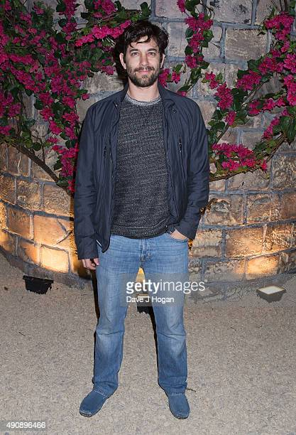 Adam Garcia attends the Croatia 'Full of Life' floating island party on London's River Thames on Butler's Wharf on October 1 2015 in London England