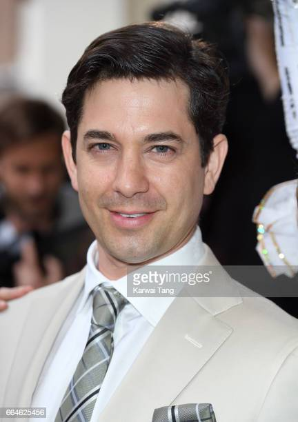 Adam Garcia attends the opening night of '42nd Street' at Theatre Royal on April 4 2017 in London England The opening night is a fundraising event...