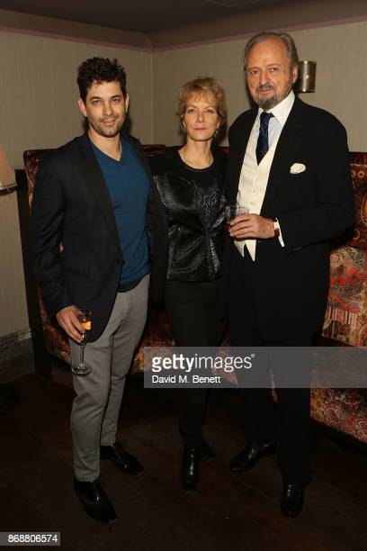 Adam Garcia Jenny Seagrove and Peter Bowles attend the press night after party for 'The Exorcist' at 100 Wardour St on October 31 2017 in London...