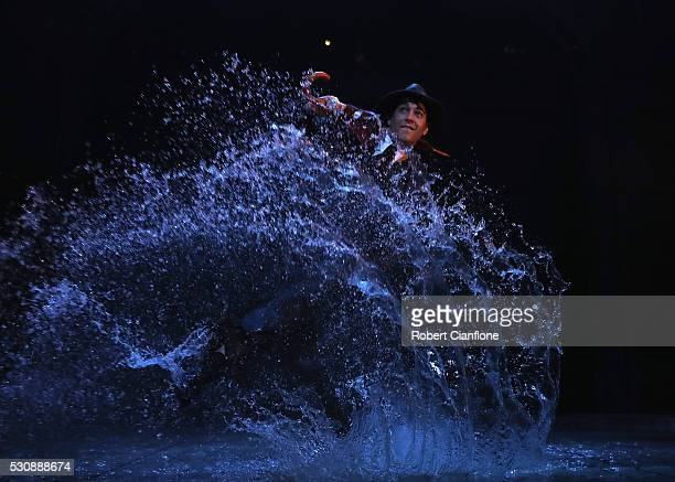 Adam Garcia performs during a production media call for Singin' In The Rain at Her Majesty's Theatre on May 12 2016 in Melbourne Australia