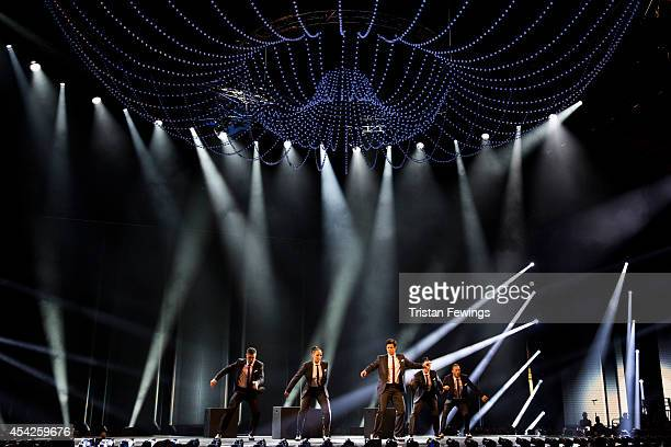 Adam Garcia performs during the third live show of 2014's 'Got To Dance' at Earls Court on August 27 2014 in London England