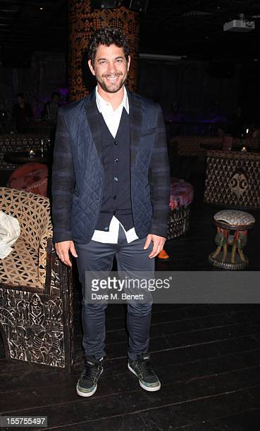 Adam Garcia poses at Deki launch party at Shaka Zulu on November 7 2012 in London England