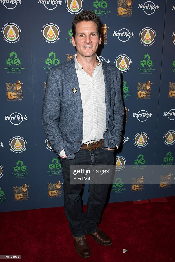 Adam Gardner of the band Guster attends Hard Rock International's Wille Nelson Artist Spotlight Benefit Concert at Hard Rock Cafe, Times Square on June 6, 2013 in New York City.
