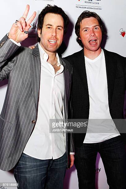 Adam Gaynor and Michael Johns attend the 6th Annual KSwiss Desert Smash Day 1 at La Quinta Resort and Club on March 9 2010 in La Quinta California