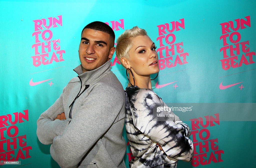 Adam Gemili and Jessie J welcome 19,000 runners back to Greenwich Park, to celebrate reaching their #justdoit goals at Run to the Beat powered by Nike+ on September 8, 2013 in London, England.