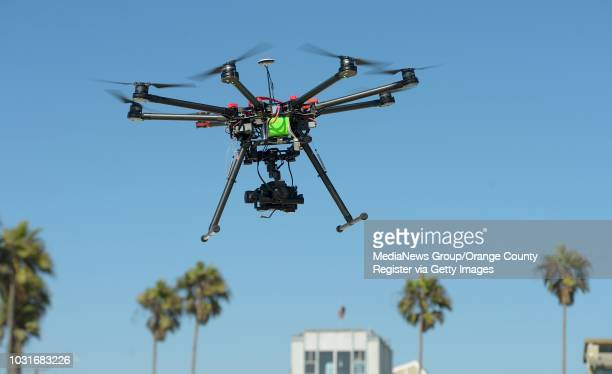 Adam Gibson and Josh Sharfi fly an octocopter at a beach in Venice on Tuesday. The pair work at Ctrl Me in Venice. These guys are drone enthusiasts...