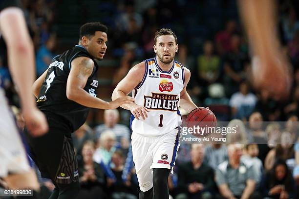 Adam Gibson of the Bullets in action during the round 10 NBL match between the New Zealand Breakers and the Brisbane Bullets at Vector Arena on...
