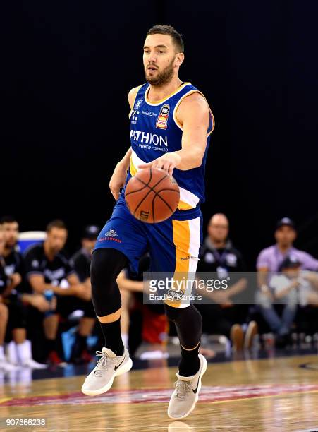 Adam Gibson of the Bullets in action during the round 15 NBL match between the Brisbane Bullets and Melbourne United at Brisbane Entertainment Centre...