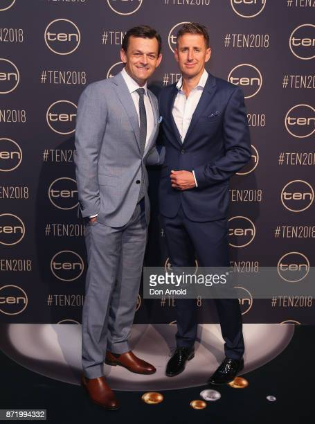 Adam Gilchrist and Mark Howard pose during the Network Ten 2018 Upfronts on November 9 2017 in Sydney Australia