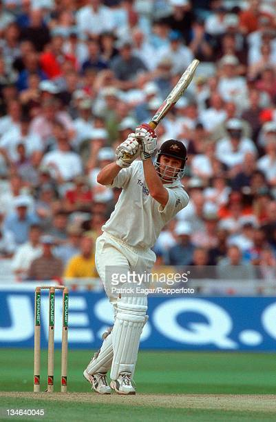 Adam Gilchrist during his 100 England v Australia 1st Test Edgbaston July 01