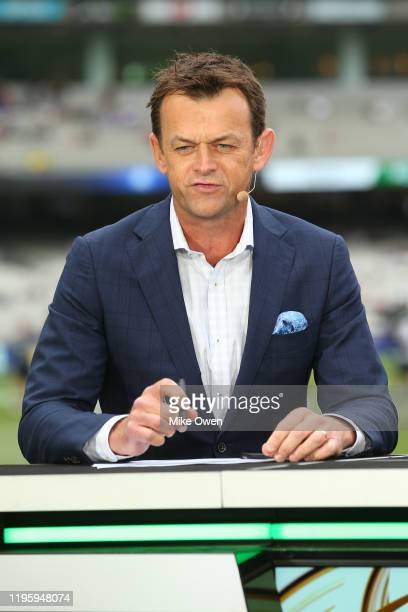 Adam Gilchrist is seen prior to day one of the Second Test match in the series between Australia and New Zealand at Melbourne Cricket Ground on...