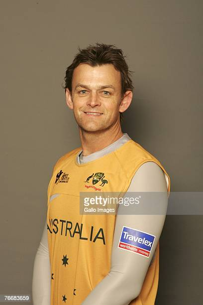 Adam Gilchrist of Australia during the ICC Twenty20 World Cup Headshots on September 6 2007 in Johannesburg South Africa