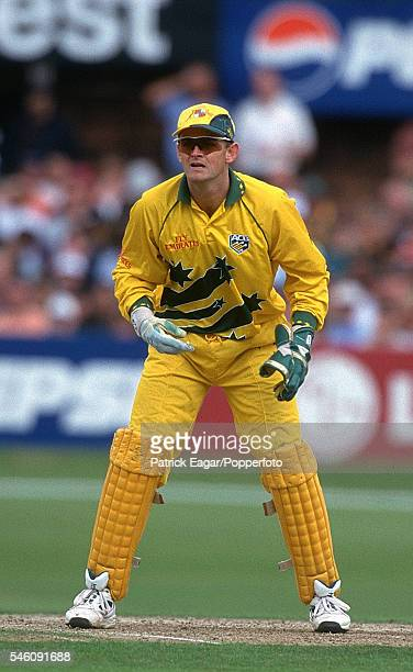 Adam Gilchrist of Australia keeping wicket during the ICC World Cup 13th June 1999