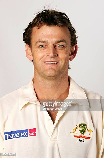 Adam Gilchrist of Australia poses for a headshot during a photo call ahead of the 2005 Ashes tour May 31 2005 in Brisbane Australia