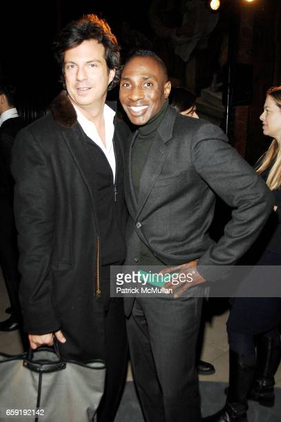 Adam Glassman and Daryl Bowman attend DAVID YURMAN Classic Timepiece Launch at The New York Public Library on February 23 2009 in New York City