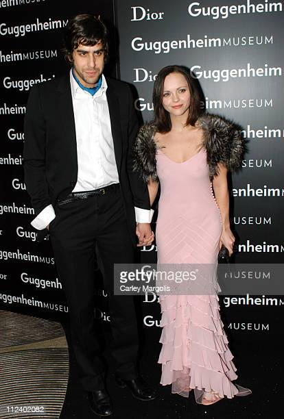 Adam Goldberg and Christina Ricci during Dior Sponsors the Solomon R Guggenheim Museum's Young Collectors Council Artist's Ball Honoring Matthew...