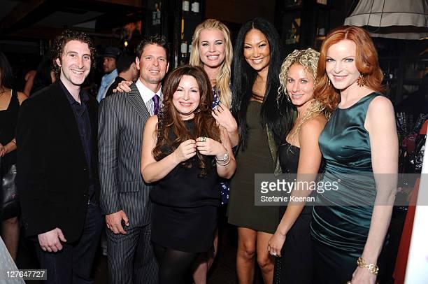 Adam Goldenberg, Don Ressler, Jessica Paster, Rebecca Romijn, Kimora Lee Simmons, Ginger Ressler and Maria Cross attend the launch of JustFabulous...
