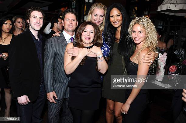 Adam Goldenberg, Don Ressler, Jessica Paster, Rebecca Romijn, Kimora Lee Simmons and Ginger Ressler attend the launch of JustFabulous with Jessica...