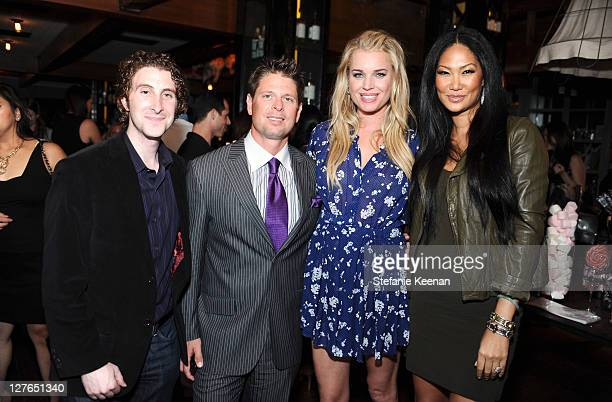 Adam Goldenberg Don Ressler Rebecca Romijn and Kimora Lee Simmons attend the launch of JustFabulous with Jessica Paster at Eveleigh on April 5 2011...