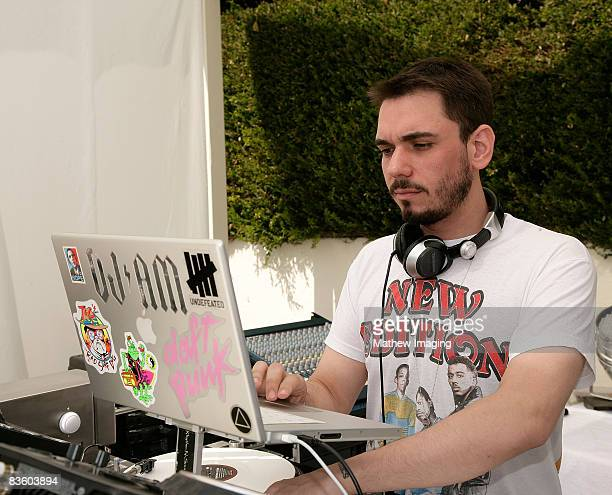 Adam Goldstein aka DJ AM performs during the McDonald's Big Mac 40th Birthday Party at Project Beach House in Malibu California on July 27 2008