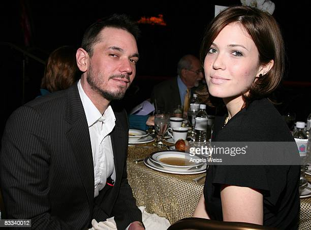 Adam Goldstein and Mandy Moore attend the Friendly House 19th Annual Awards Luncheon at the Beverly Hilton Hotel on October 18 2008 in Beverly Hills...