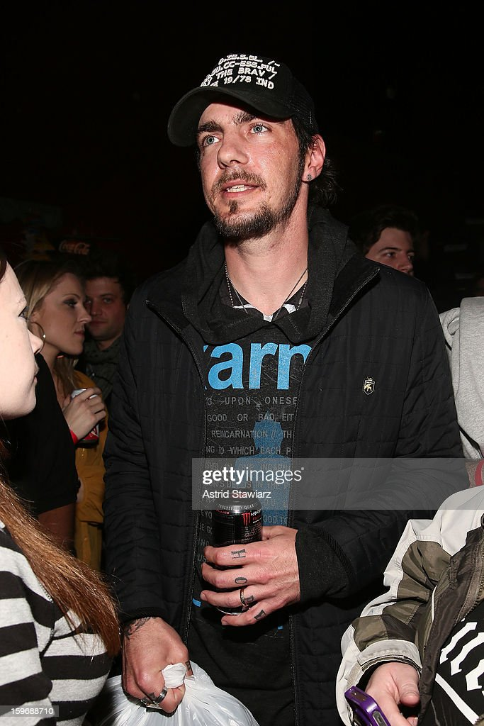 Adam Gontier greets fans during the Rock For Recovery, A Benefit For Victims Of Hurricane Sandy at the Gramercy Theatre on January 17, 2013 in New York City.