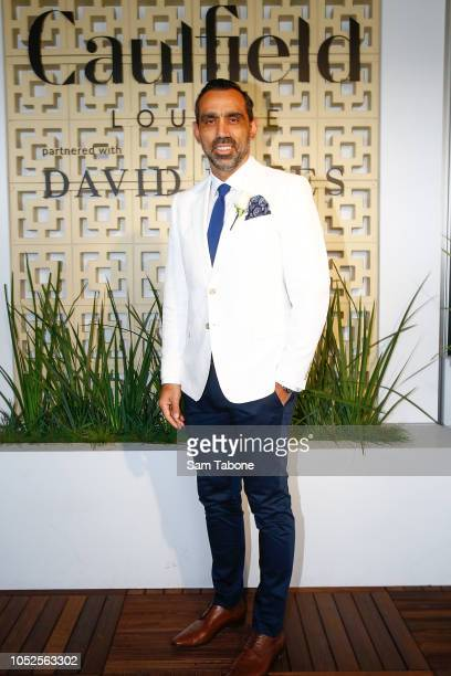 Adam Goodes attends 2018 Caulfield Cup Day at Caulfield Racecourse on October 20 2018 in Melbourne Australia