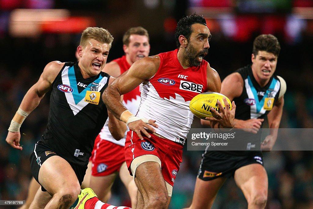 AFL Rd 14 - Sydney v Port Adelaide : News Photo