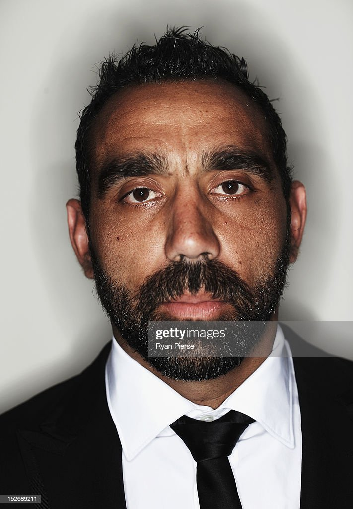 Adam Goodes of the Swans poses during the Sydney Swans AFL Brownlow Medal function at Sydney Cricket Ground on September 24, 2012 in Sydney, Australia.