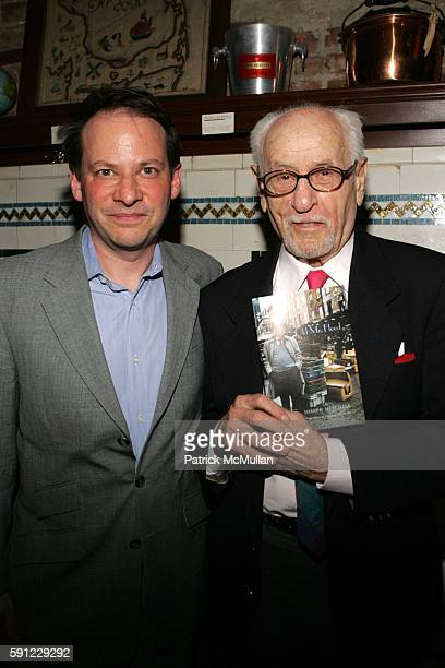 Adam Gopnik and Eli Wallach attend Book Party for Old Mr Flood by Joseph Mitchell with a Special Reading by Eli Wallach at Shaffer City Oyster Bar on...