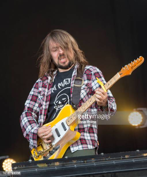 Adam Gorman of The Travelling Band performs at Fairport Convention's Cropredy Convention at Cropredy on August 10 2018 in Banbury England