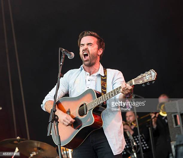 Adam Gorman of The Travelling Band performs on stage at Cropredy festival at Cropredy on August 8 2014 in Banbury United Kingdom