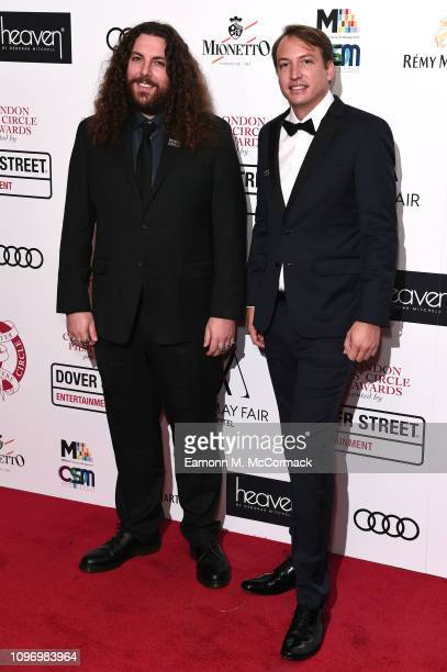Adam Gough and Nico Celis attend the 39th London Critics' Circle Choice Awards at The May Fair Hotel on January 20, 2019 in London, England.
