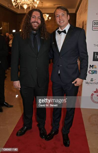 Adam Gough and Nicolas Celis attend The 39th London Film Critics' Circle Awards at The May Fair Hotel on January 20, 2019 in London, England.