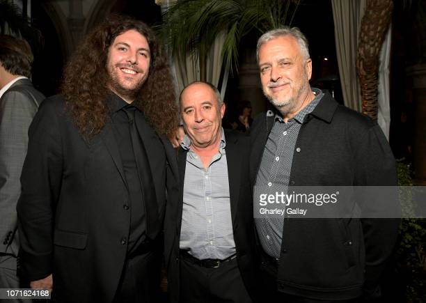 "Adam Gough, Jose Antonio Garcia and Skip Lievsay attend the Netflix ""Roma"" Premiere at the Egyptian Theatre on December 10, 2018 in Hollywood,..."